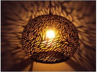 Lamp basket shade big zebra etching