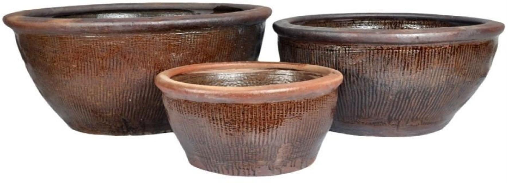 Brown 37cm Earthenware Ceramic Planter