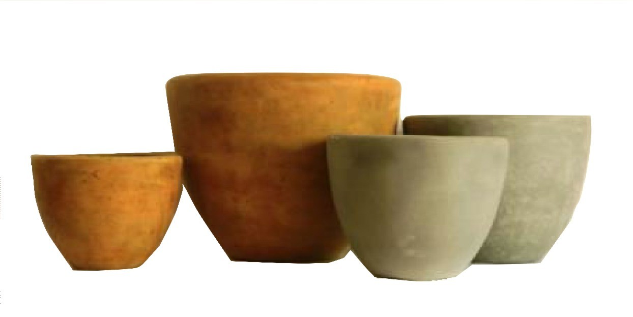 Large Size Yellow Finish Cement Planters