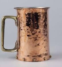 Copper mug hammered