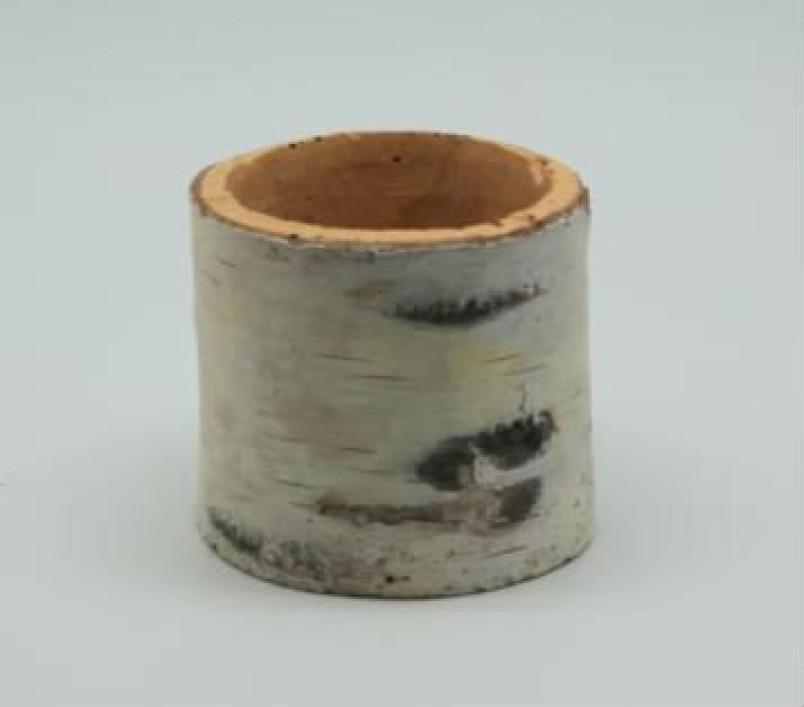 Wood Finish 9 cm Fiberglass Pots