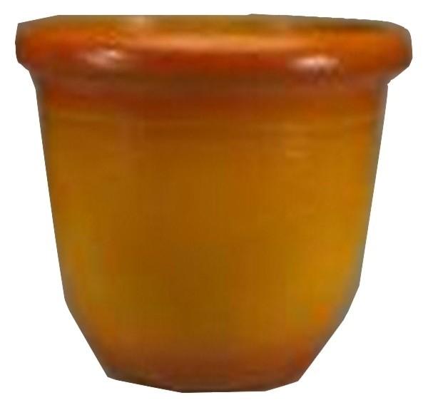 Light Orange Finish 15.5 Inch Height Plastic Planter