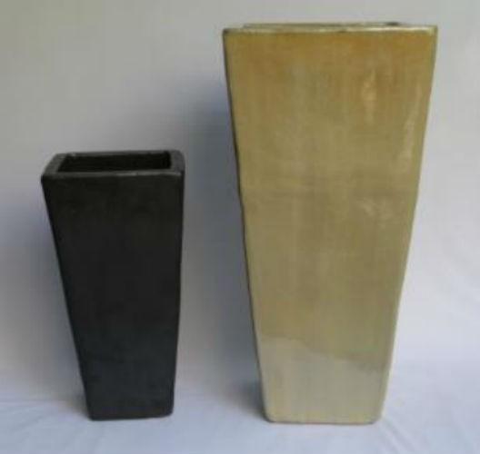 Matt Black 59cm Ceramic Planter