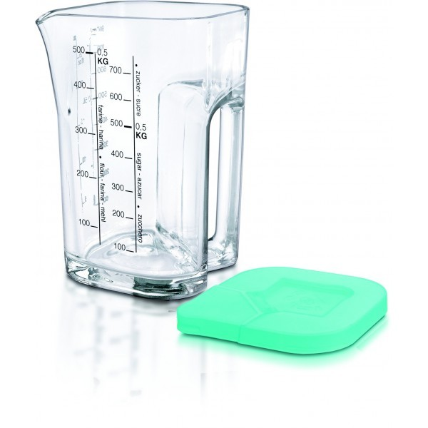 Measuring Jug, Size H 18 x Dia 14 x Bottom Dia 11cm, Volume 1000ml