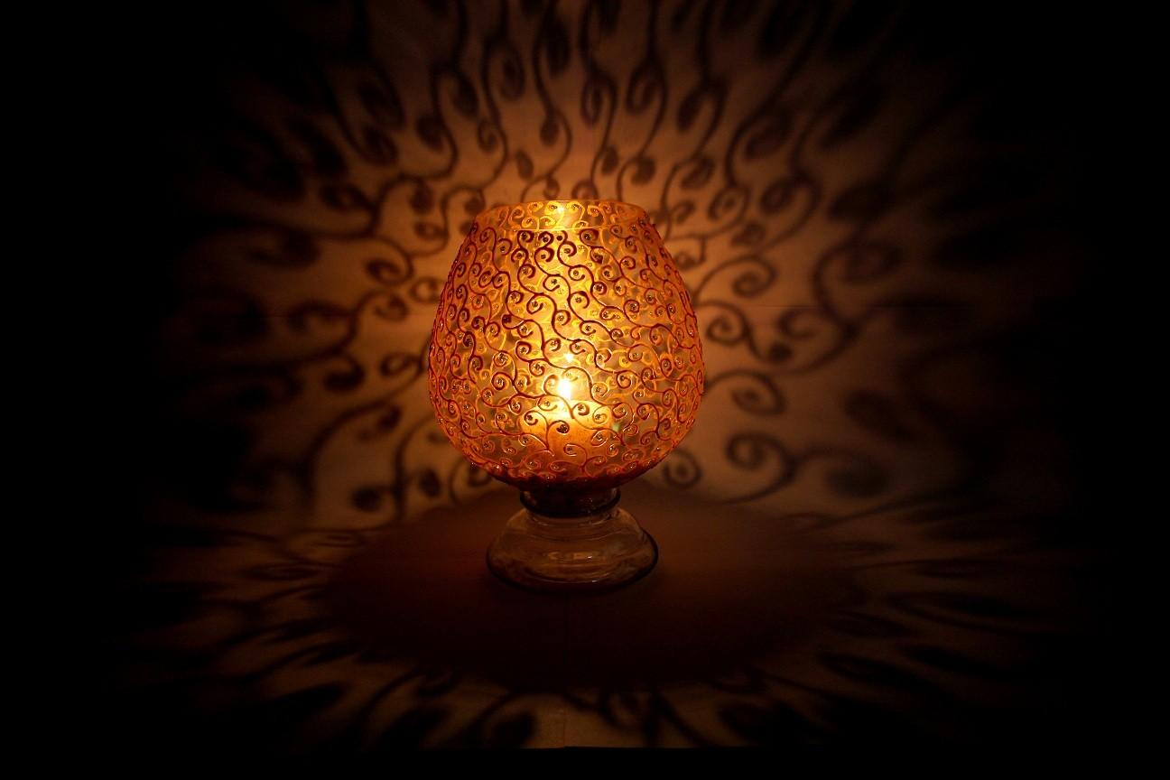Metallic Swirls Candle Holder