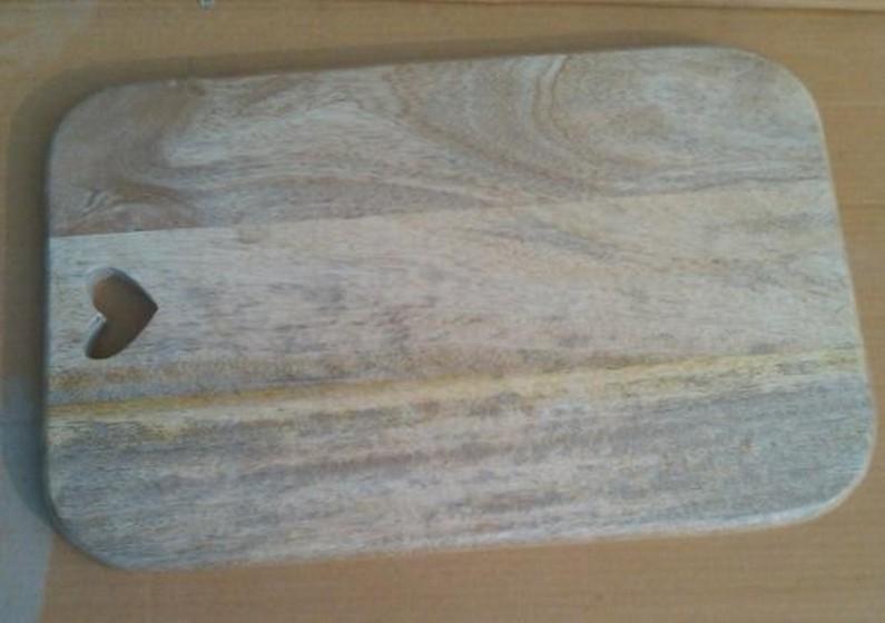 Oak Rectangular Chopping Board with Cut-out Heart