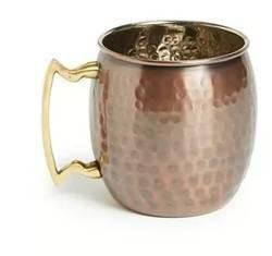 Antique plain copper mug