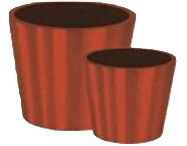Orange Tall 50 Inch Fiberglass Planter