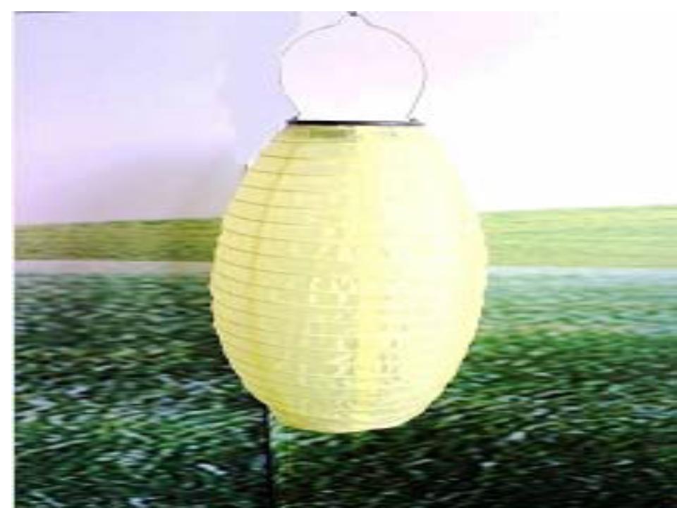 Oval shape garden hanging solar lantern