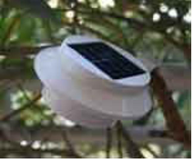 plastic material outdoor solar light