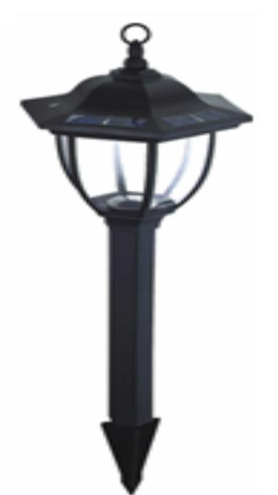 plastic solar lawn lamp