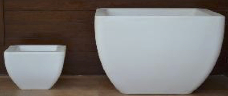 White Marble Sand Stone Planter Without Lights Height 600mm