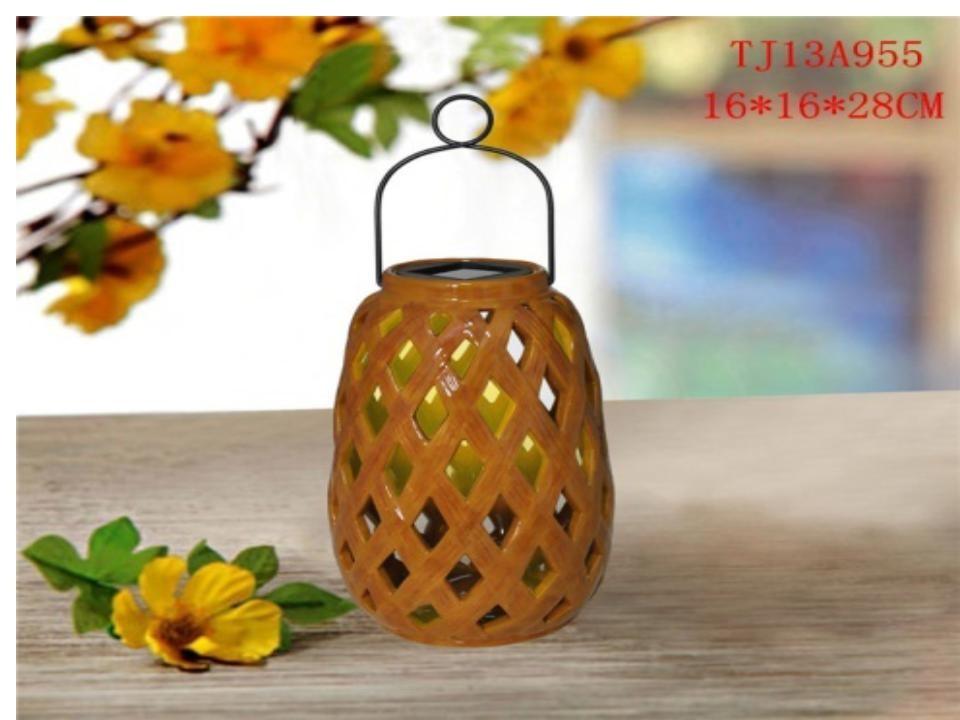 Wooden color Portable solar lantern