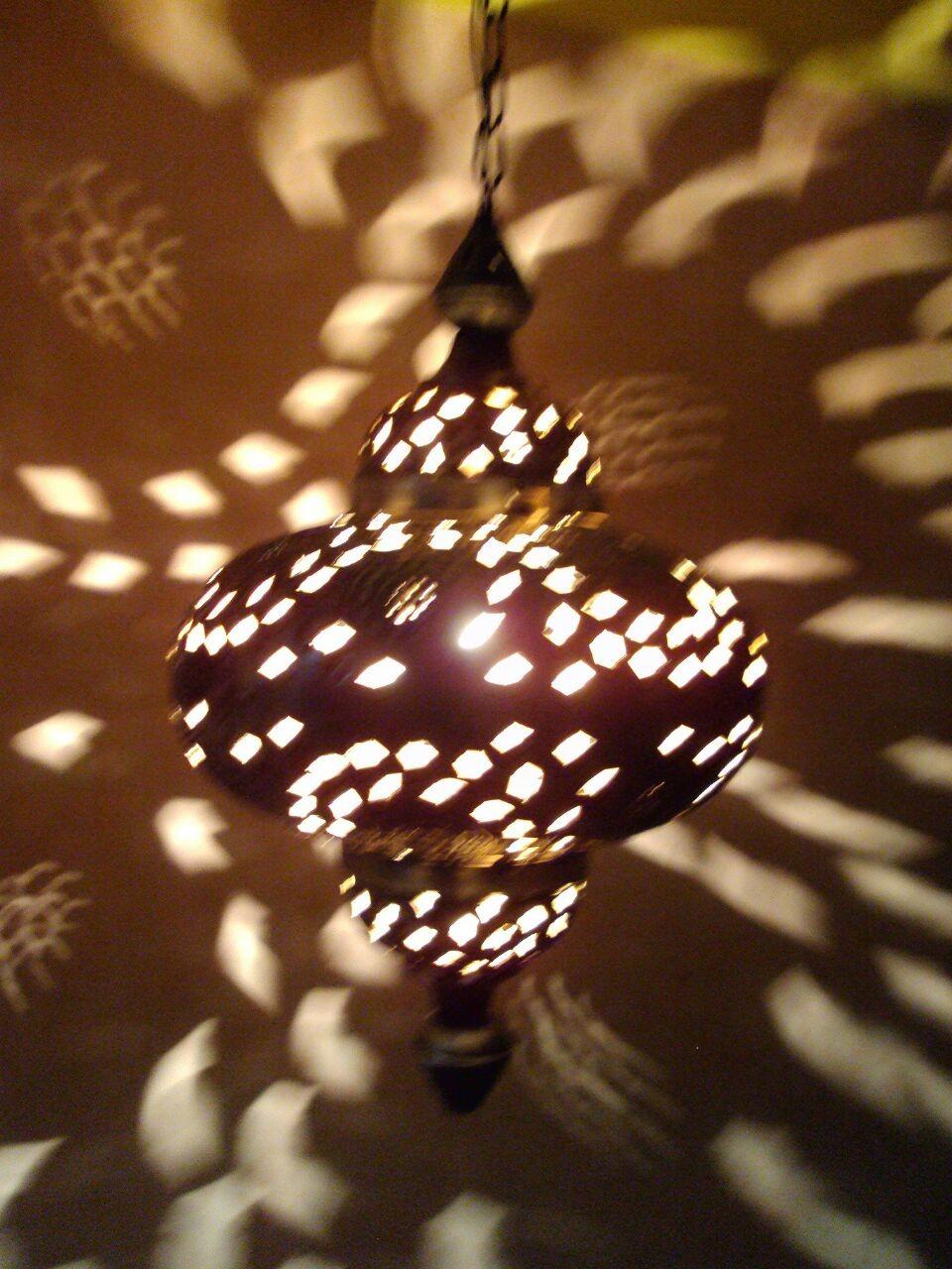 Hanging Metal Lantern -dark brown