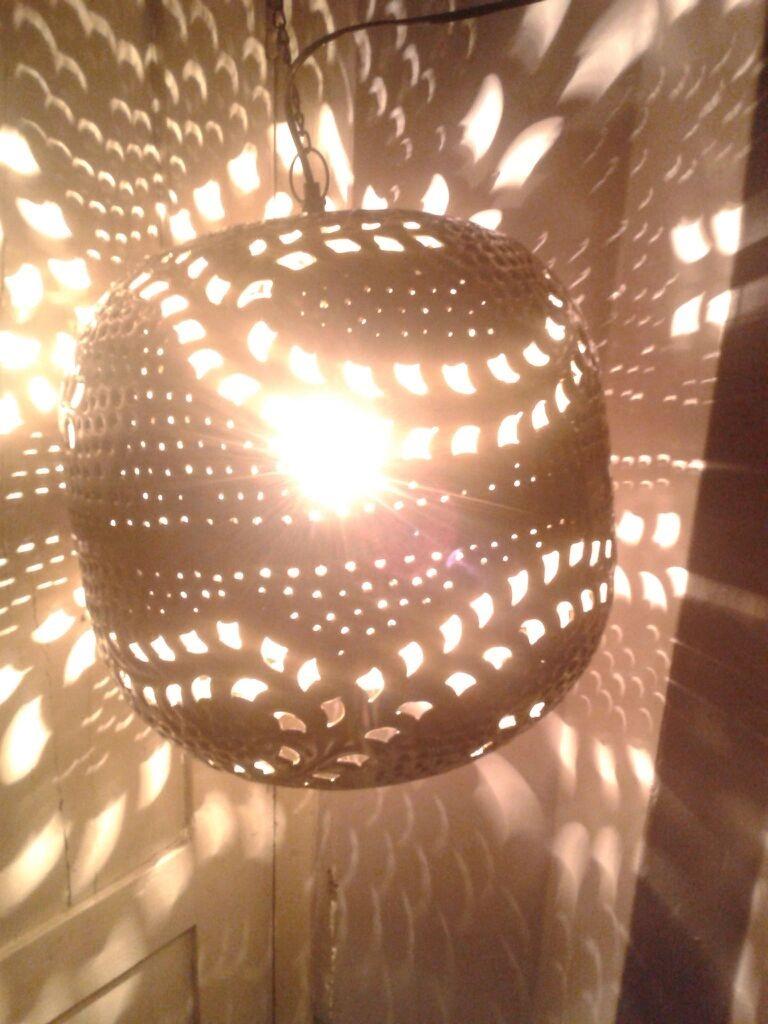 bright lightning hanging ball lantern
