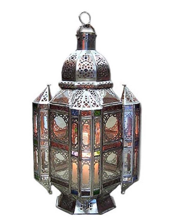 Multicolored silver coated lantern
