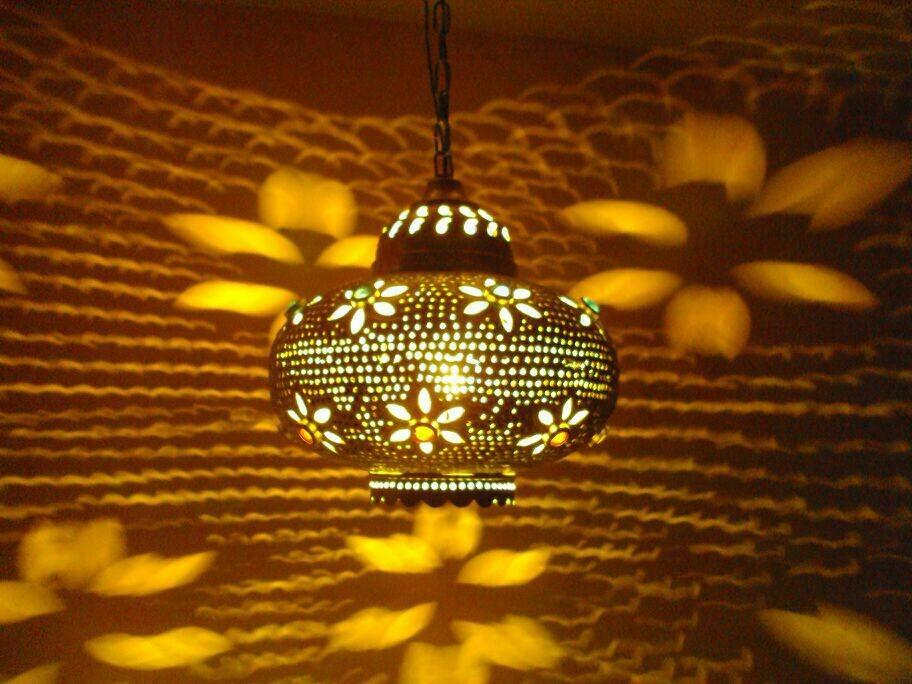 Plume Hanging Metal Candle Lantern