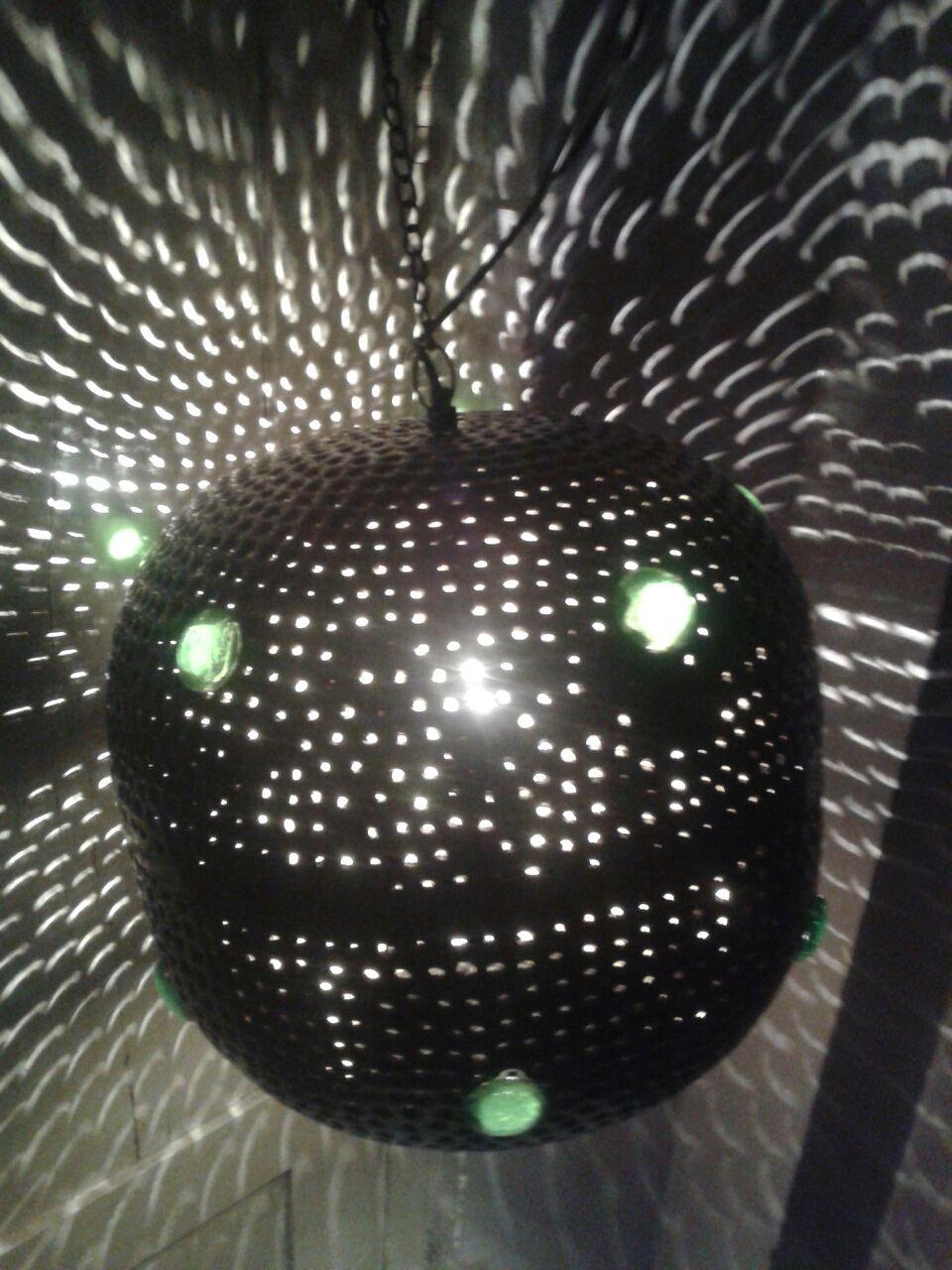 Black disco ball lantern