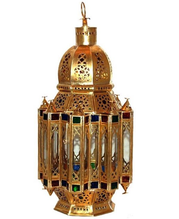 Antique golden colored lantern