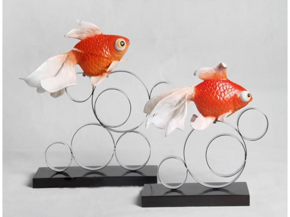 Resin goldfish home decor (A)