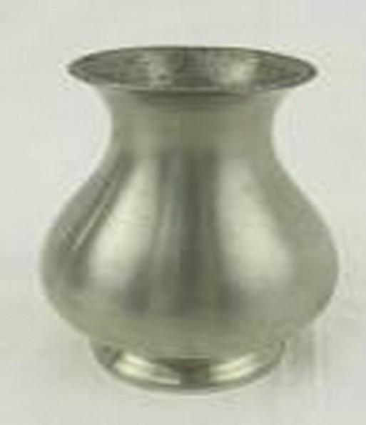 "Jug Style Silver Metal Plain Flower Vase(9'' x 7"")"