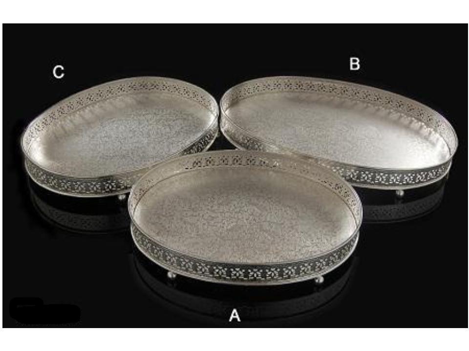 Silver Oval Shaped Tray ( B-Big)