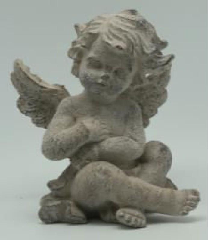 Sitting Angel Cement Garden Ornaments