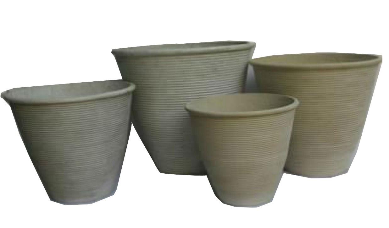 Small Size Anti-White Finish Cement Pots