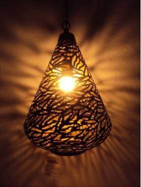 Small size cone shape lamp-Zebra etching