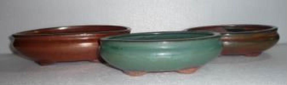 "7"" Height Dark Brown Glazed Ceramic Pot"