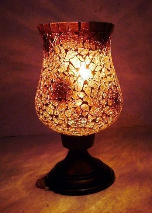 Sparkling Crystal Hurricane Candle Holder
