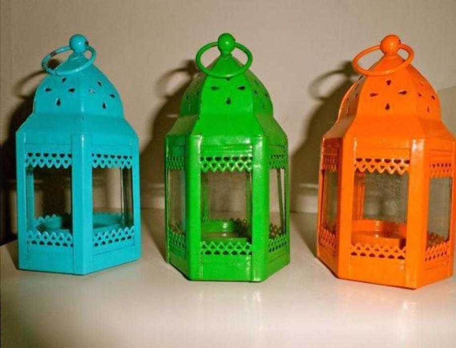 """Spring series of  mini lantern iron with glass size-6"""""""