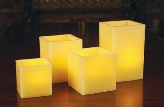 Square Shape LED Candle-Medium Size