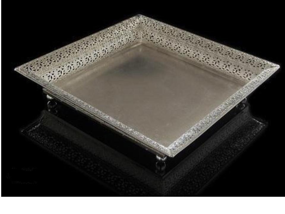 Square Silver Plate Tray