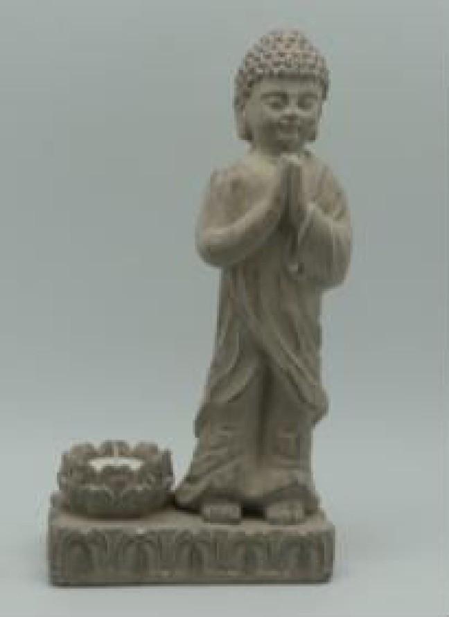 Standing Buddha Cement Garden Ornaments