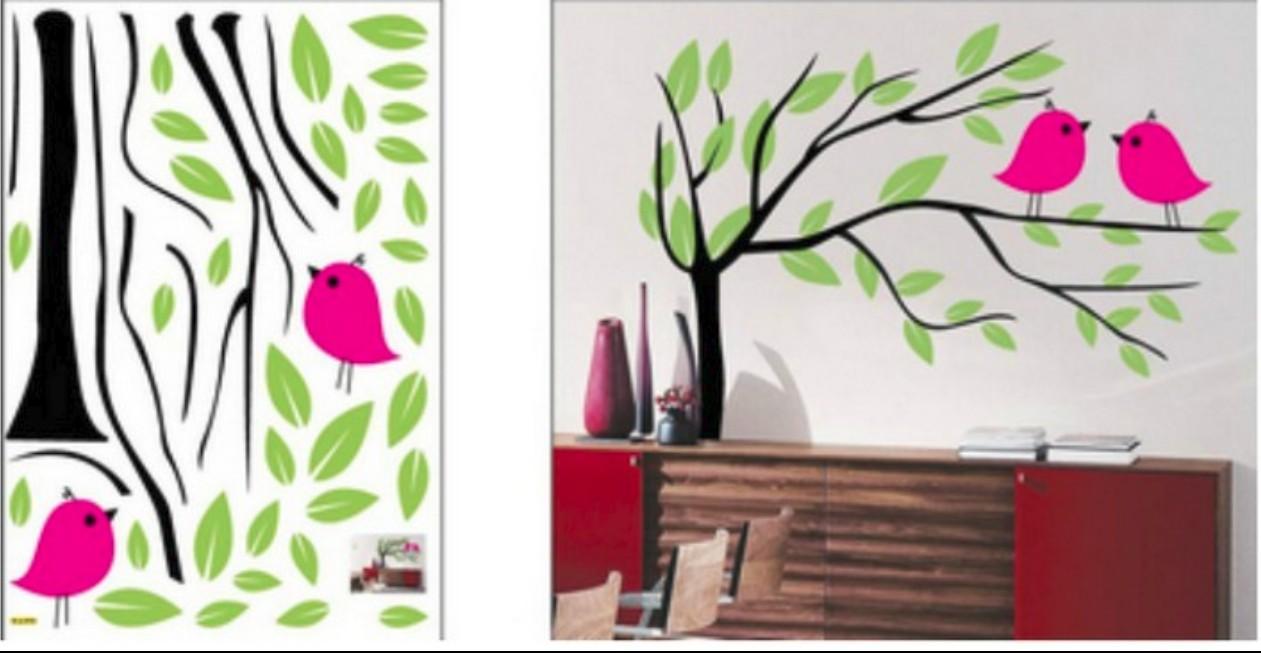 Wall sticker, size W 50 x L 70 cm