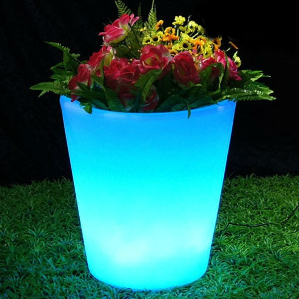 Super Quality Plastic Led Light Planter