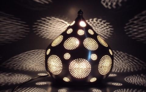 Table Lamps With Round Design, Size-26X26X28 CM