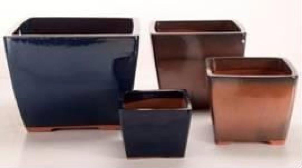 Light Brown Height 9'' Ceramic Glazed Planter