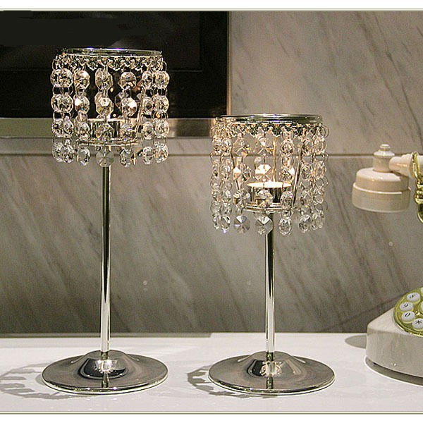 Top Quality Crystal Candlestick Set of 2