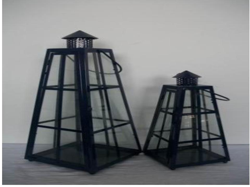 Tower shape Iron with glass lantern Size-14'