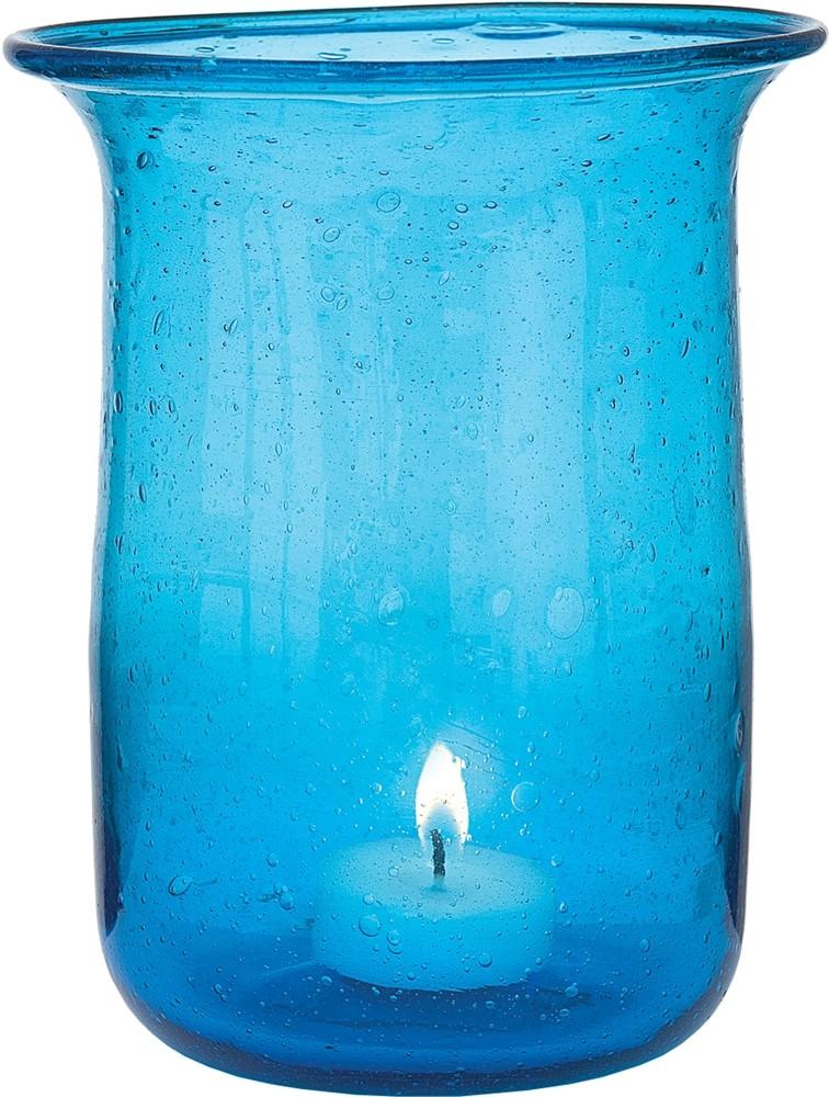 Transparent Blue Candle Holder