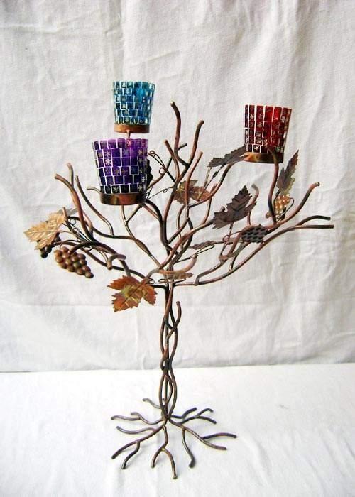Tree Designed Votive Candle Holder