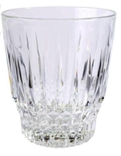 Trevi Glass Tumbler, Size H 10cm x Top Dia 9cm x Bottom Dia 6.5cm