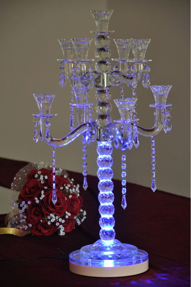 Unique Wedding Table Crystal Candelabras