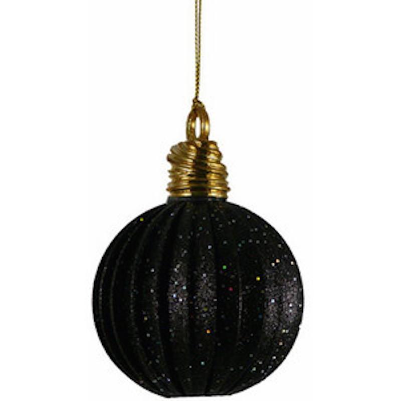 Black Hanging Christmas Ornament