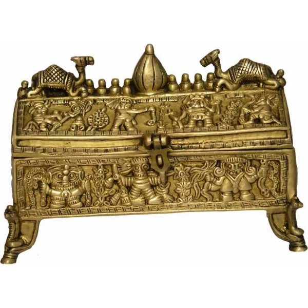 Vintage Brass Jewllary Box