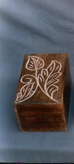 "6'' x 3"" Rectangle Wooden Box"