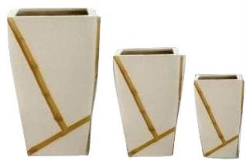 White Medium Elegance 24 Inch Fiberglass Planter