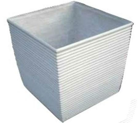 White Ribs 24 Inch Fiberglass Planter